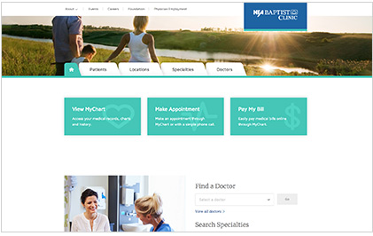 NEA Baptist Clinic Screenshot