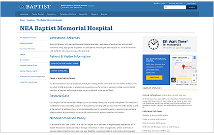 NEA Baptist screenshot